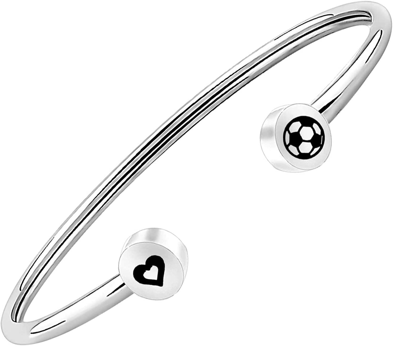 CENWA Soccer Bracelet Sports Bracelet End of Season Coach Gifts Adjustable Bracelet Gift for Soccer Mom