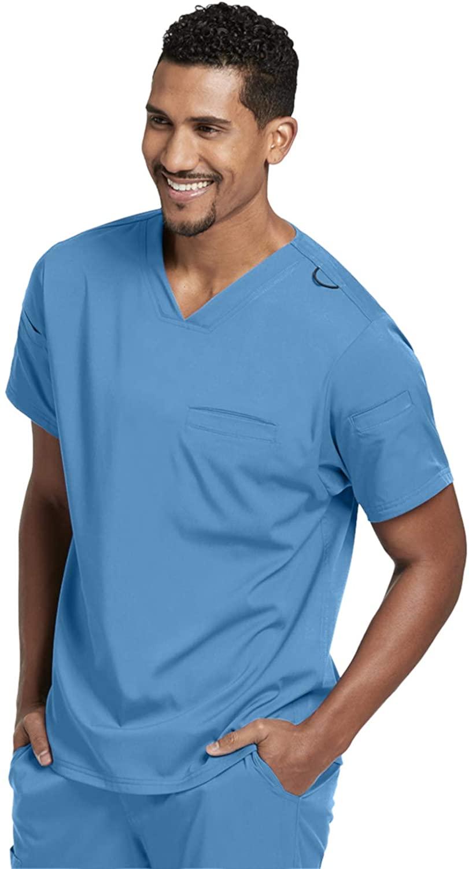 Grey's Anatomy GRST009 V-Neck Scrub Top - Spandex Stretch Ciel Blue XL