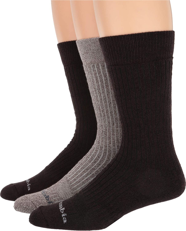 Columbia Men's Soft Cotton Sport Crew Socks, 3 Pair (10-13)
