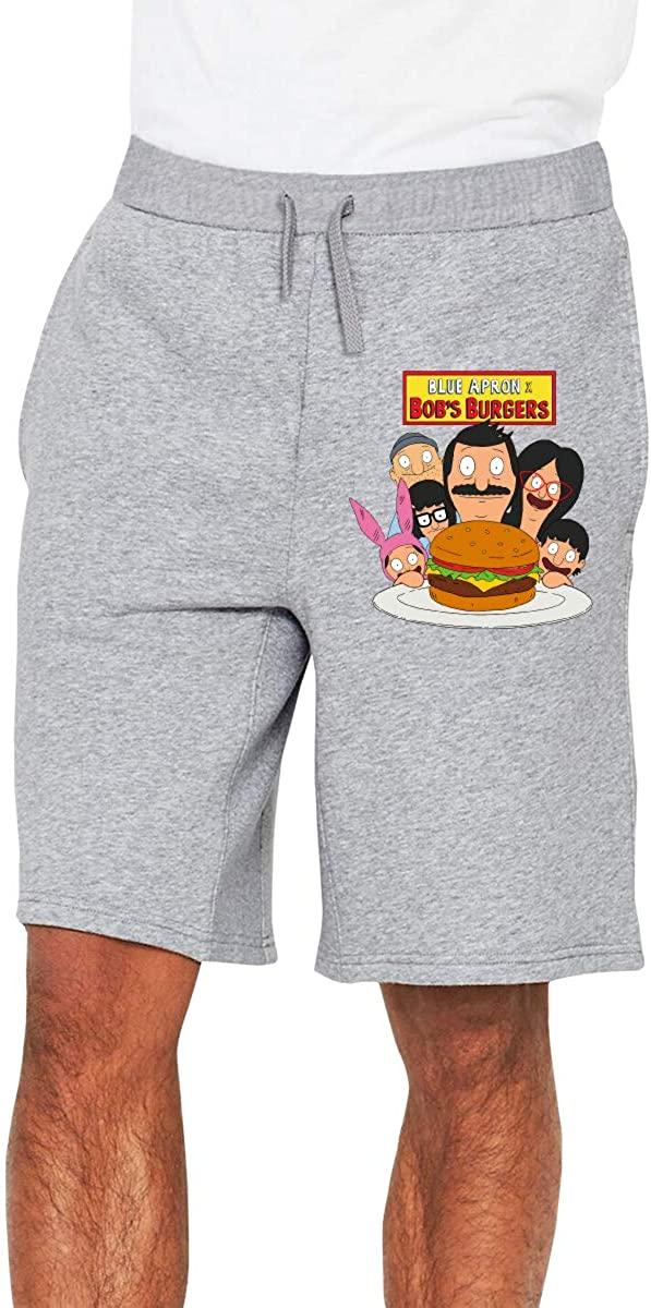 Bob's Burgers Men's Shorts Casual Cotton Sports Drawstring Summer Beach Shorts