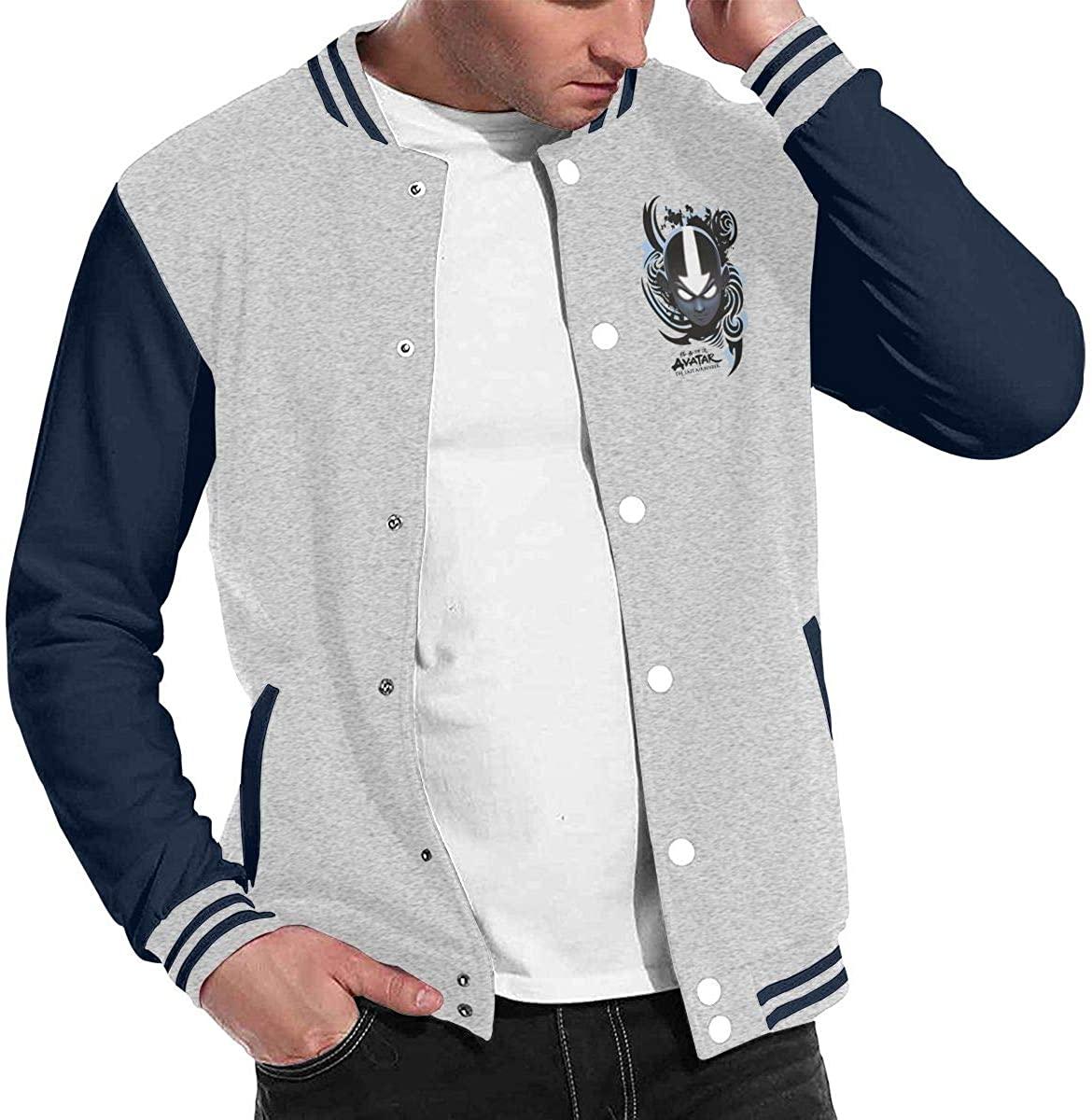 Avatar The Last Airbender Unisex Hipster Baseball Uniform Jacket Sport Coat Black Gray