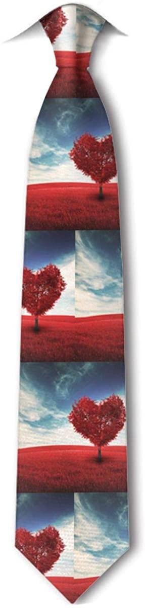 Love Heart Tree Fields MenS Tie Hipster Leisure Neckties