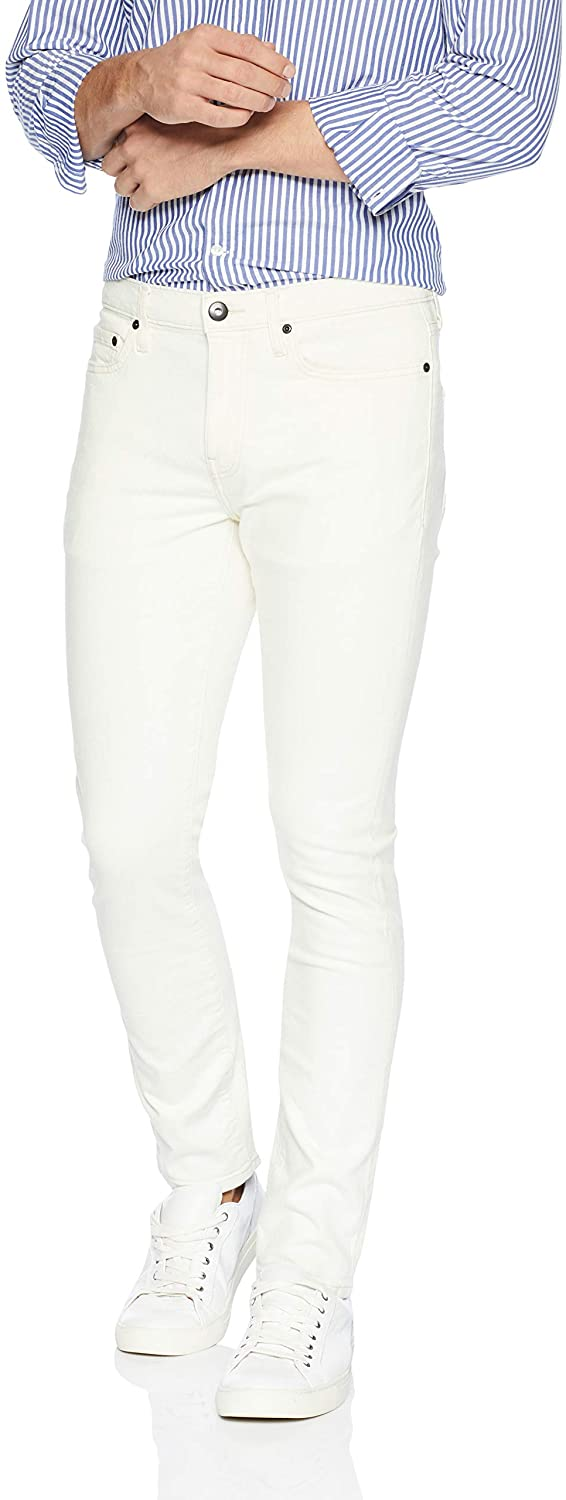 DHgate Brand - Goodthreads Men's Skinny-Fit Comfort Stretch Jean, White Vintage, 36W x 29L