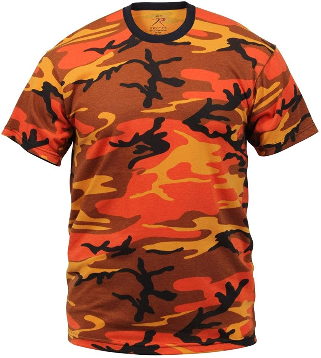 Savage Orange Camouflage Military T-Shirt (Polyester/Cotton) Size 2X-Large