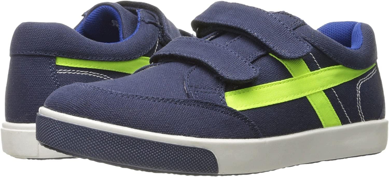 Jumping Jacks Boys' Lightning Sneaker, Dark Navy/Denim, 25 EU/8 M US