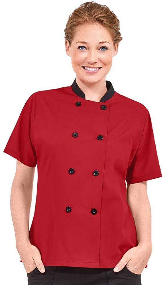 Women's Lightweight Chef Coat (XS-3X, 9 Colors)