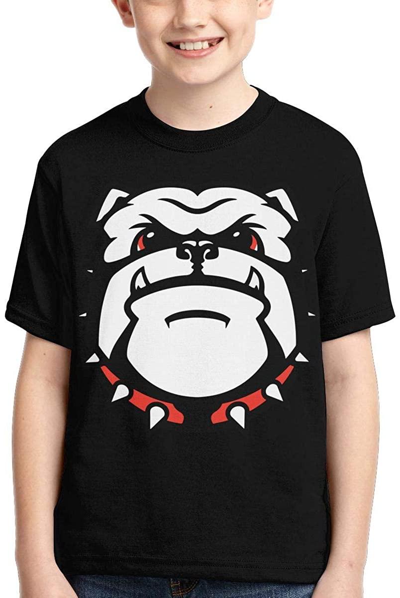 Youth Boys Girls The University of Georgia Bulldogs T Shirt Crewneck Short Sleeve Tees Top Shirt