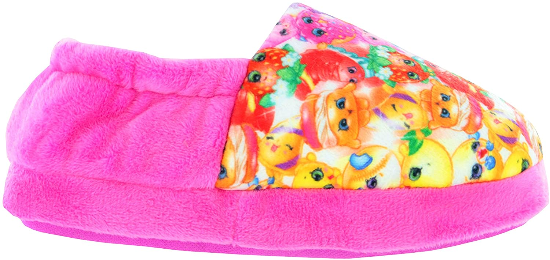 Shopkins Girls Pink Elasticated Slip On Slipper UK Child Size