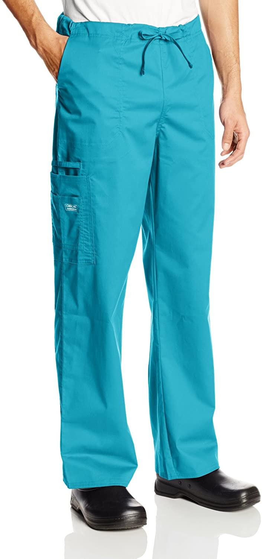 Cherokee Premium Core Stretch Unisex Cargo Scrubs Pant, Teal Blue, X-Small