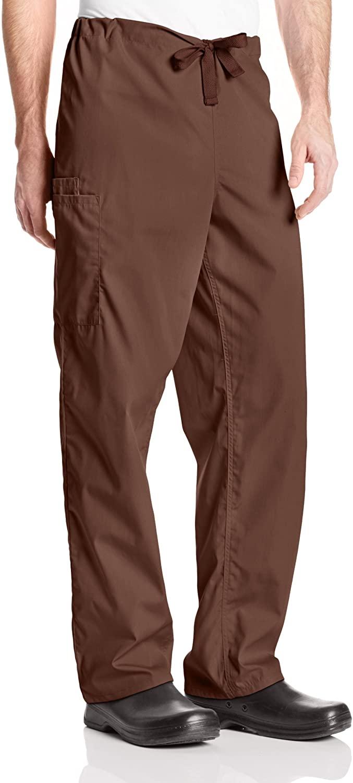 Cherokee Originals Unisex Drawstring Cargo Scrubs Pant, Chocolate, X-Large