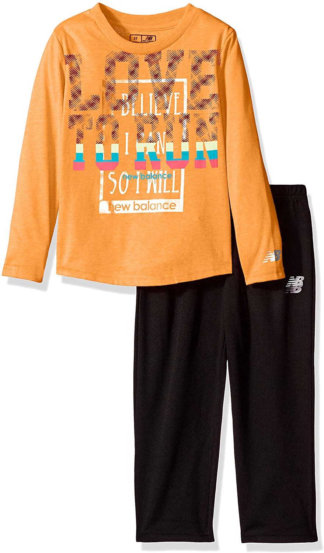 New Balance Girls' Toddler Long Sleeve Top and Tight Set