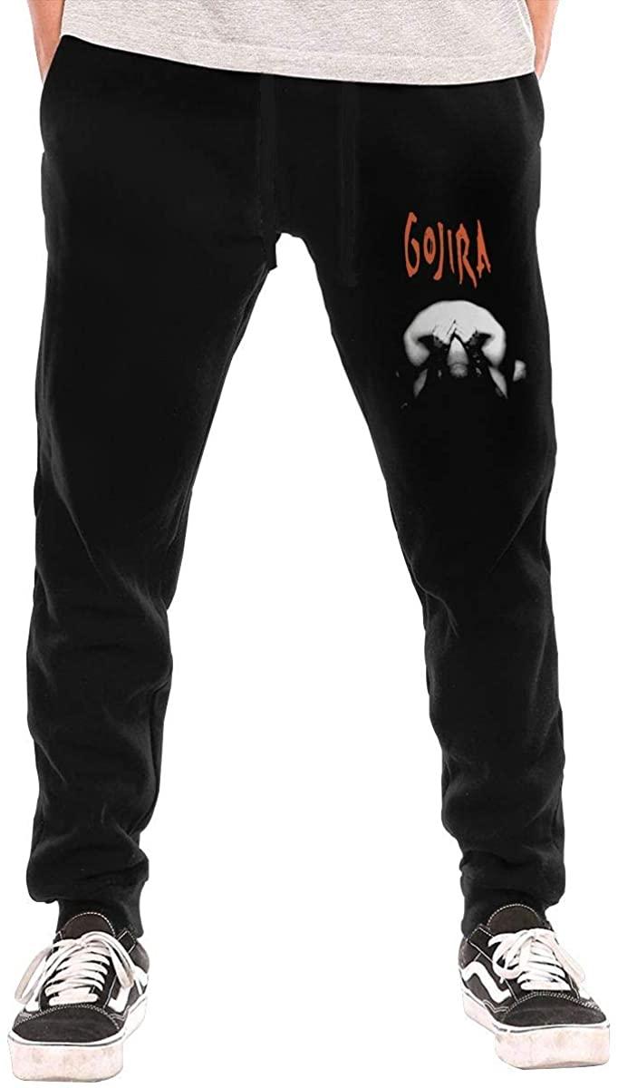 NOT Gojira Men's Workout Activewear Long Pants Boys Running Sweatpants XL Black
