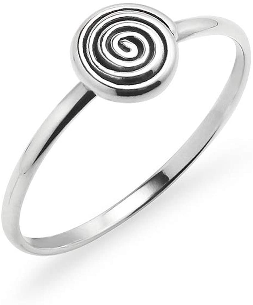 Gotta Have It 925 Sterling Silver Spiral Design Ring | Fashion Innovative Sacred Jewelry | Sizes 5-10