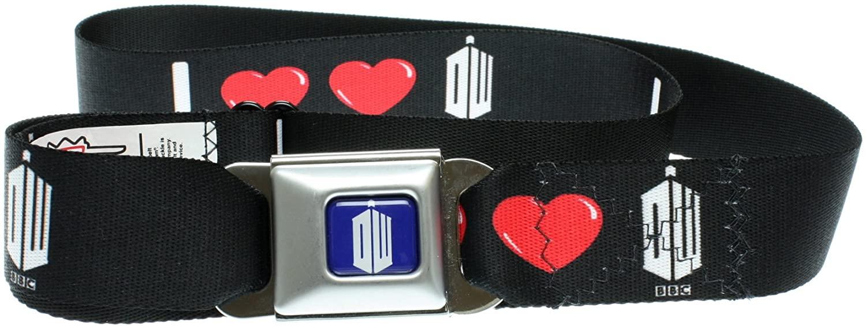 Doctor Who I Double Heart DW Seatbelt Belt