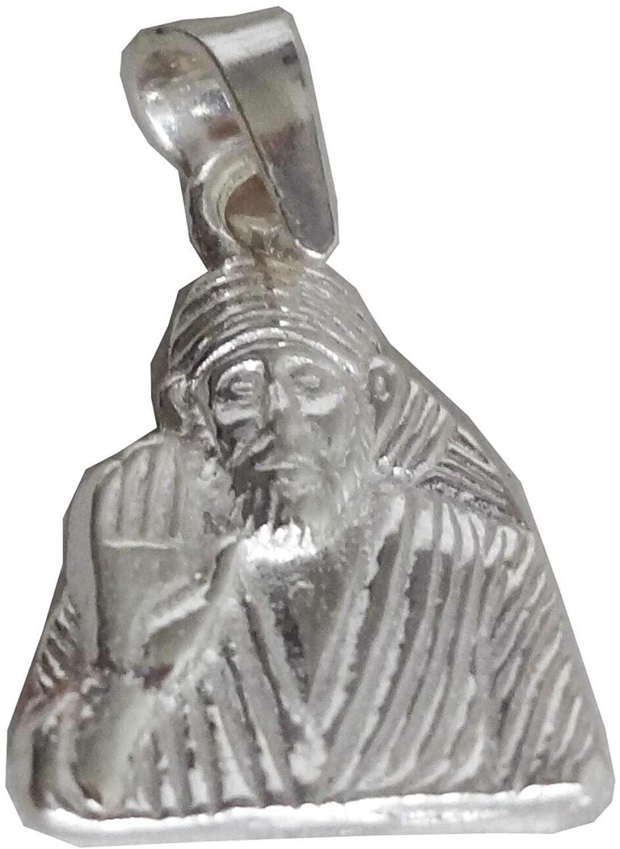 Indian Solid 925 Sterling Fine Silver Beautiful Saint Sai Baba Locket Pendant