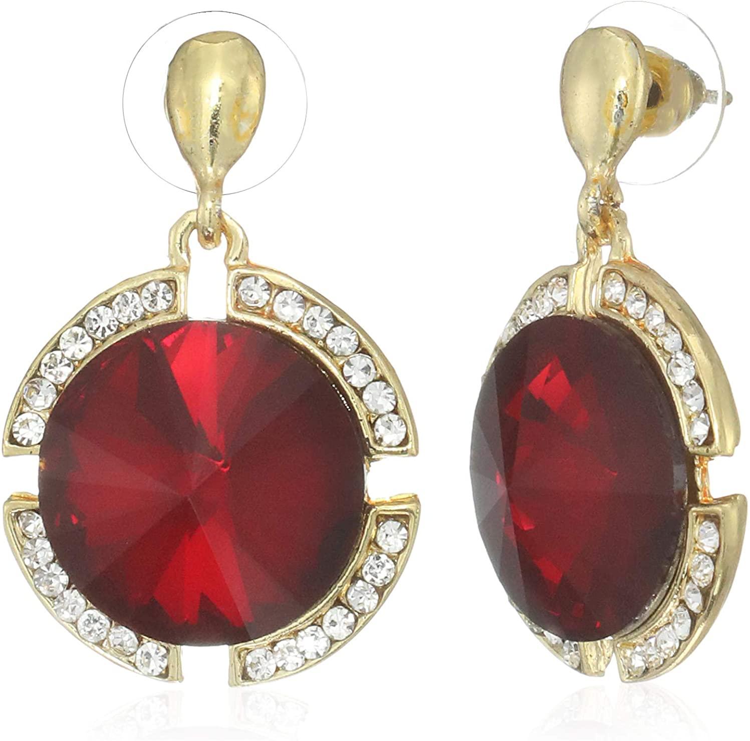 Swadev Jewels Bollywood Style Party Wear Crystal Dangle Earrings for Women & Girls
