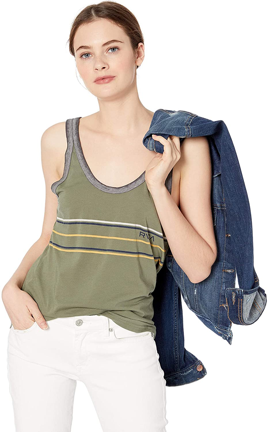 RVCA Women's Another Stripe Ringer Tank Top