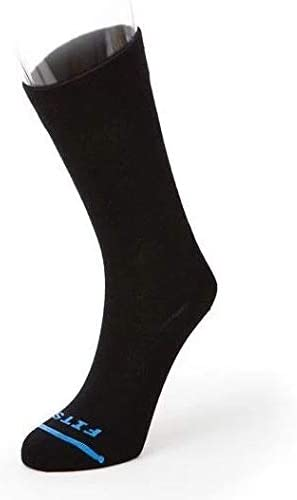 FITS Light Nordic – Crew: High Performance Wool Sock, Black, L