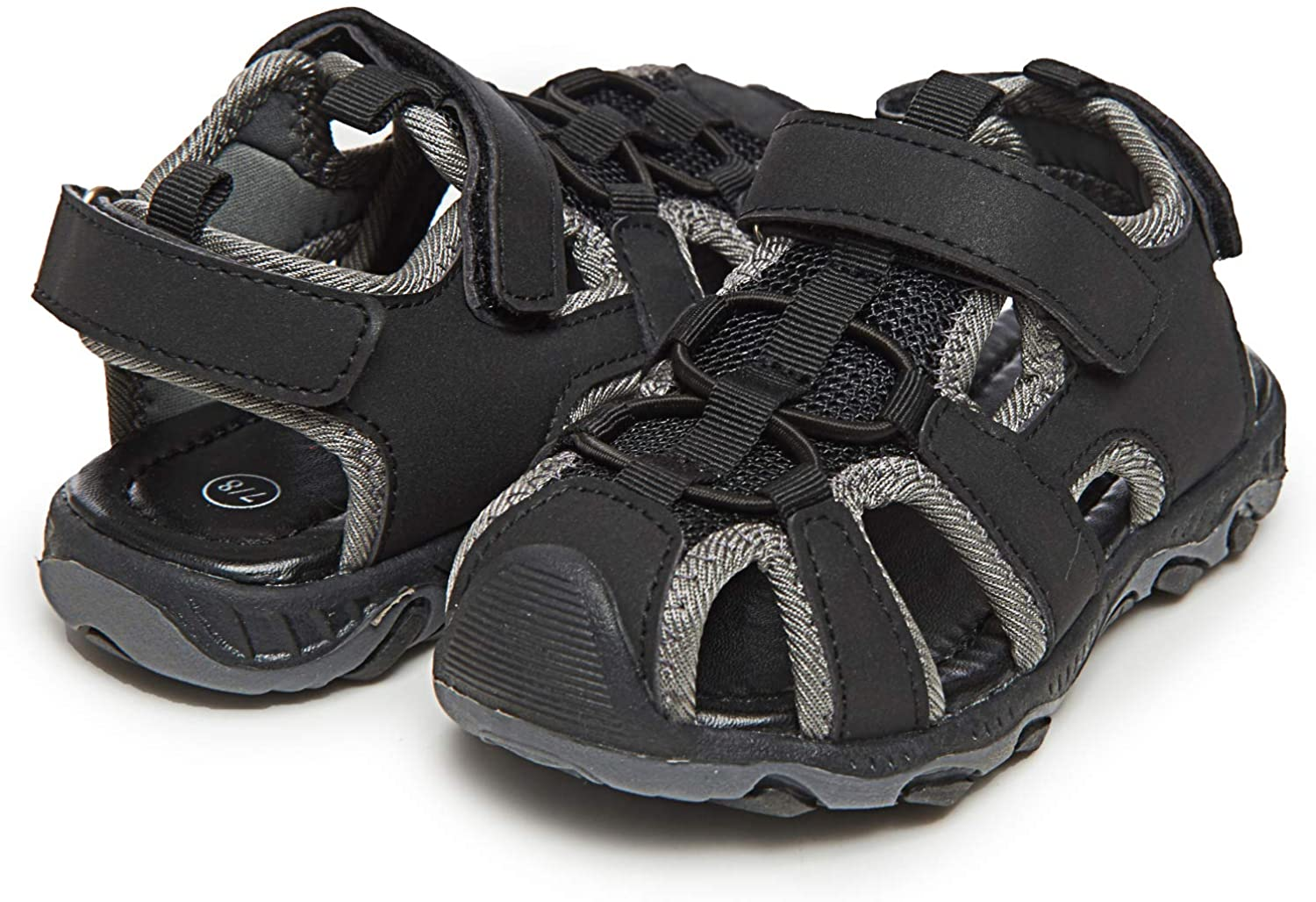 Skysole Boy's Athletic Fisherman Sandals | Closed-Toe, Mesh, Adjustable Strap, Kid's Shoes