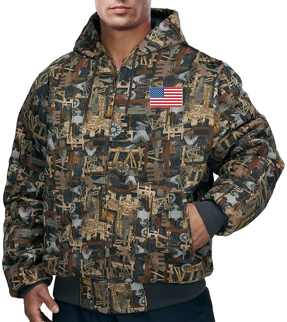 Buy Cool Shirts Mens US Flag Outdoorsman Camo Jacket