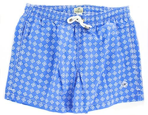 Luigi Borrelli Light Blue Foulard Swim Shorts
