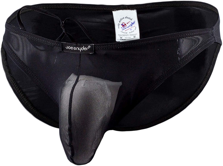 JOE SNYDER Maxibulge Bikini 01 (S, (aq) Black MESH)