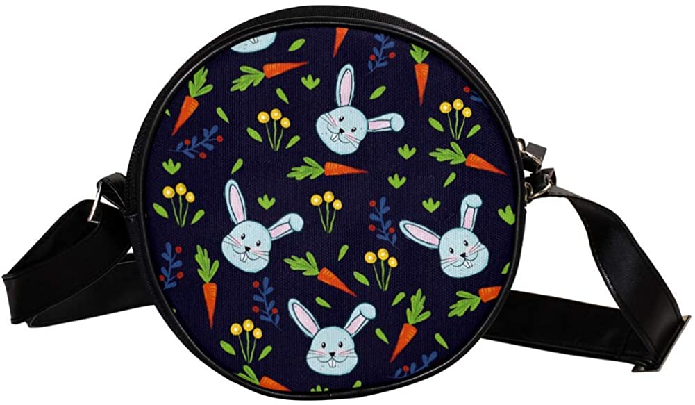 Coin Purse For Kids Blue Rabbit Carrot Mini Crossbody Bag Girls Wallet