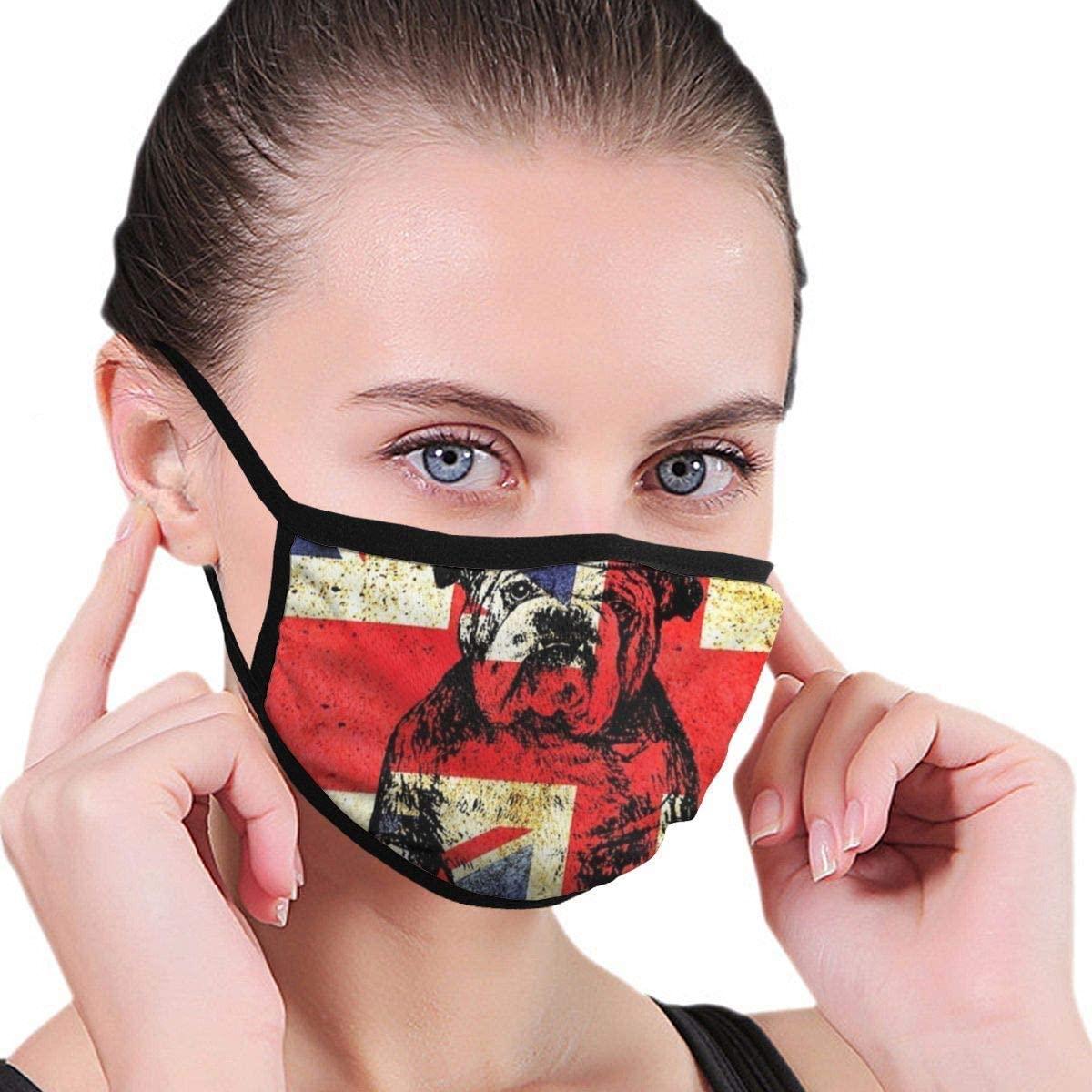 BOKUTT Adjustable Decorative Masks,Unisex Adult Anti-Dust BritishUK Flag Union Jack Cover Washable for Men Women-Washable and reusable