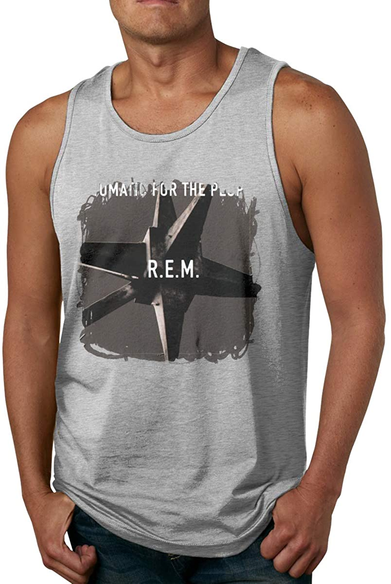 MaddLees Automatic for The People R.E.M. Men Tank Tops Sleeveless Vest Crew Neck Shirts