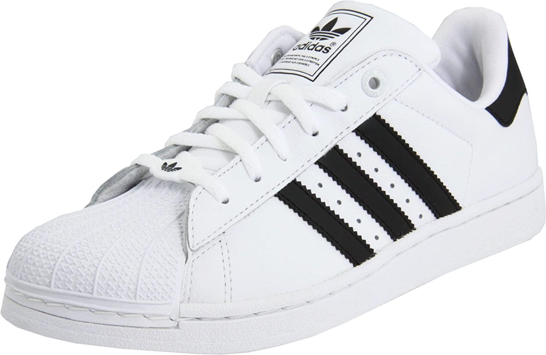 adidas Originals Superstar 2 Sneaker (Little Kid/Big Kid),White/Black/White,12 M US Little Kid