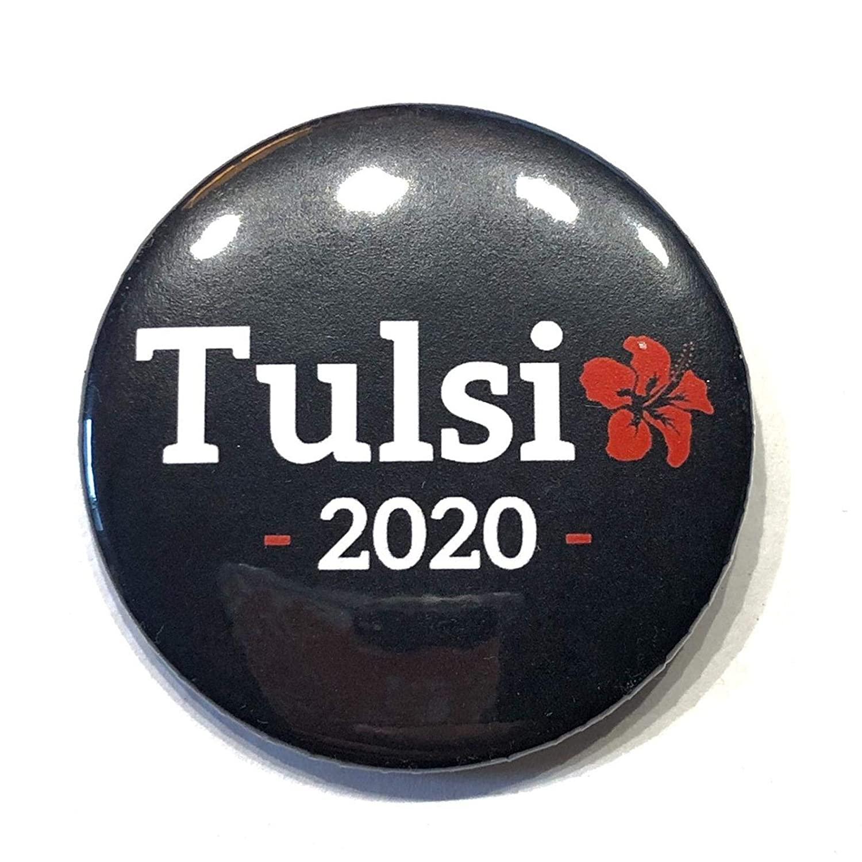 Tulsi Gabbard 2020 flower Logo new, 2 1/4 inch in diameter pin/button presidential elections