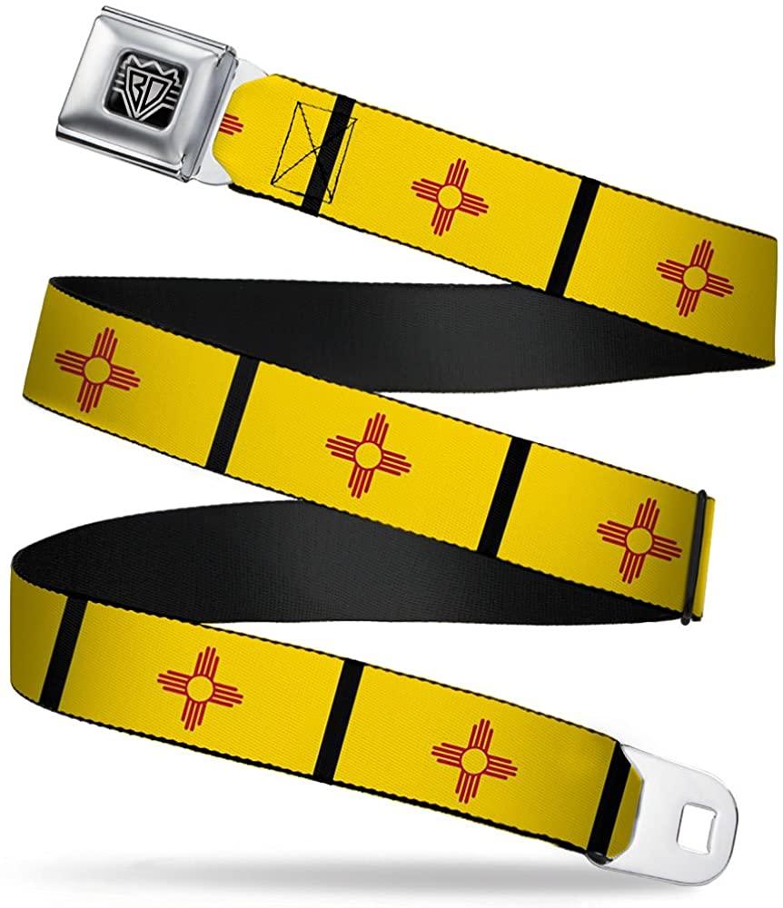 Buckle-Down Seatbelt Belt - New Mexico Flag/Black - 1.5