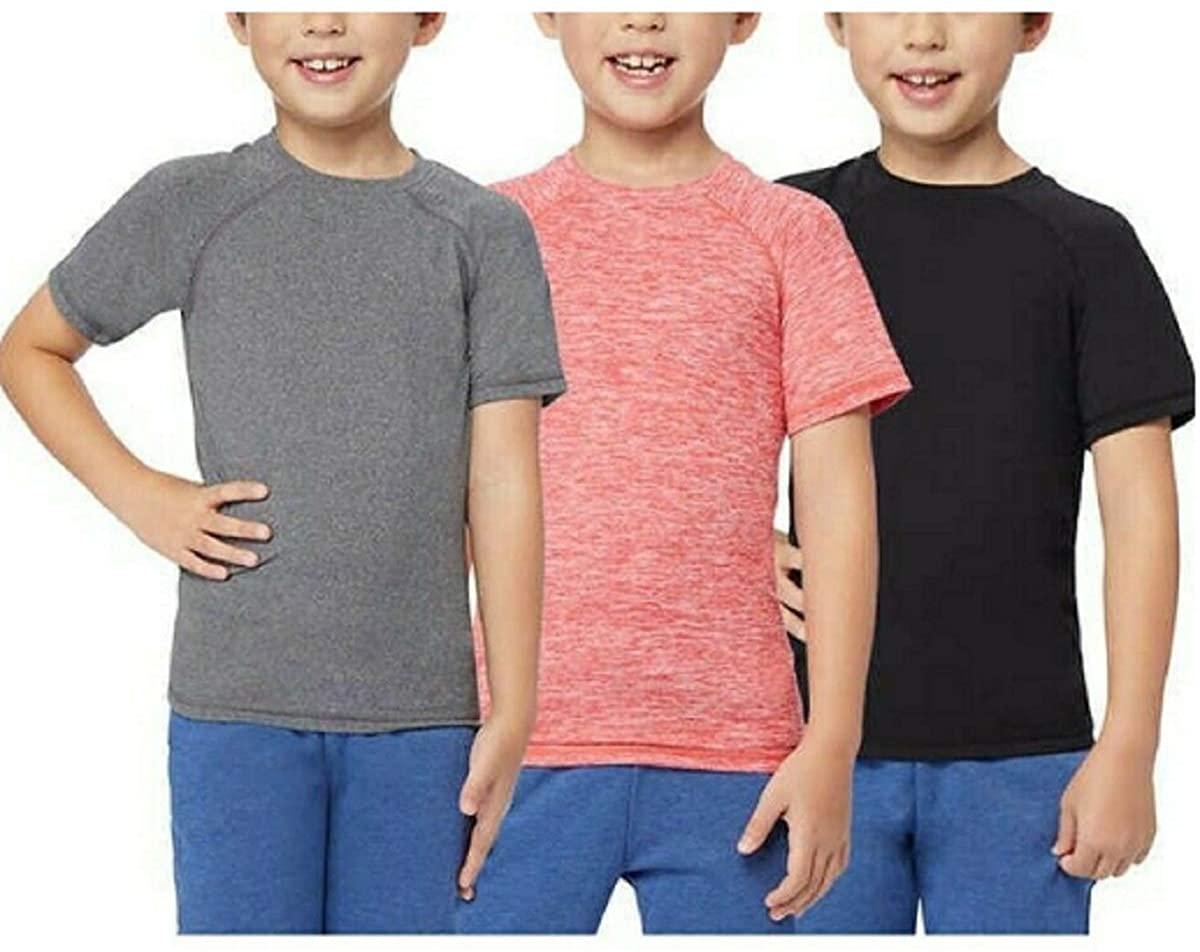 32 DEGREES Youth Short Sleeve Raglan Red/Gray/Black Boys Large 14/16 Tee 3 Pack