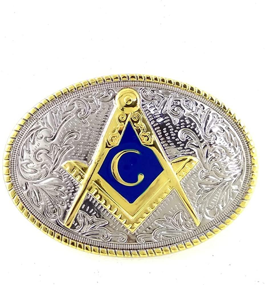 Polished Masonic Masons freemason Belt Buckle