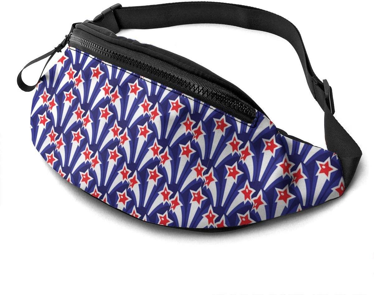 Patriots America Blue Pattern Fanny Pack Fashion Waist Bag