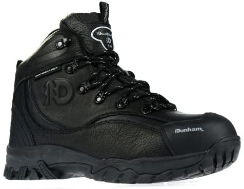 Dunham by New Balance Acadia 402 Steel Toe Mens Black Work Boot Hiker