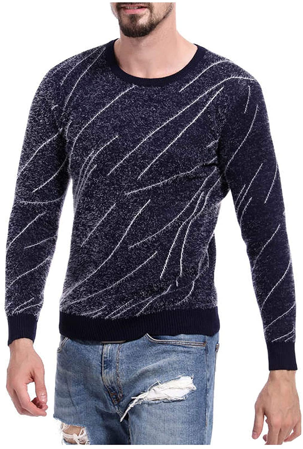 Always For Me Cashmere Wool Sweater Men Autumn Winter Slim Fit Pullovers V Neck Pull Homme Christmas Sweaters