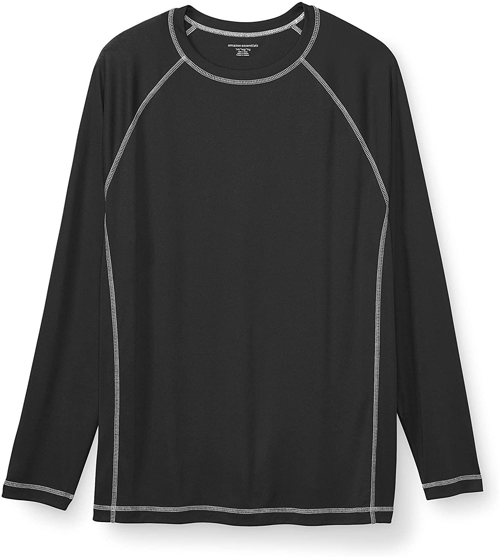 DHgate Essentials Men's Big & Tall Long-Sleeve Quick-Dry UPF 50 Swim Tee fit by DXL