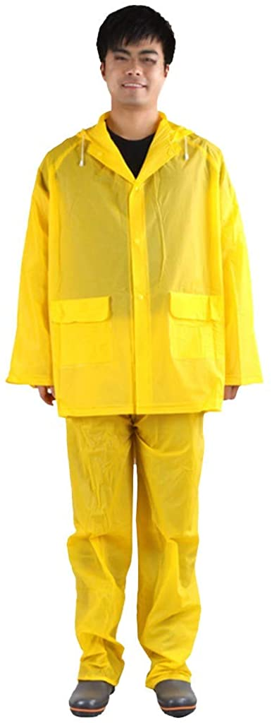 Woemn Men Dust-Proof Waterproof Wind-Proof Hat Raincoat Protective Clothing (1PC Protective Suit,Yellow)