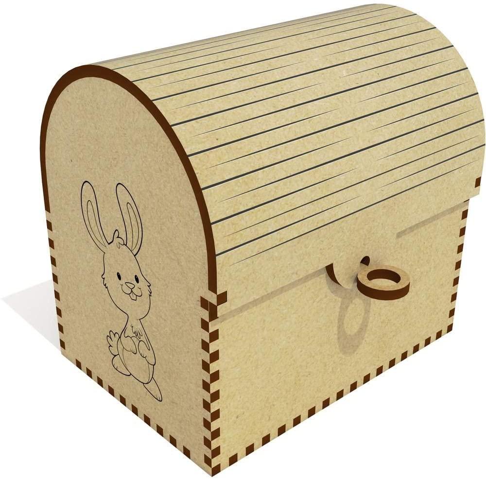Azeeda 'Happy Bunny' Treasure Chest / Jewellery Box (TC00007708)