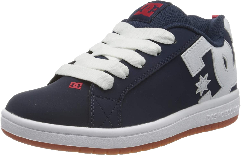 DC Shoes Court Graffik Trainers Boys Blue/White Low Top Trainers