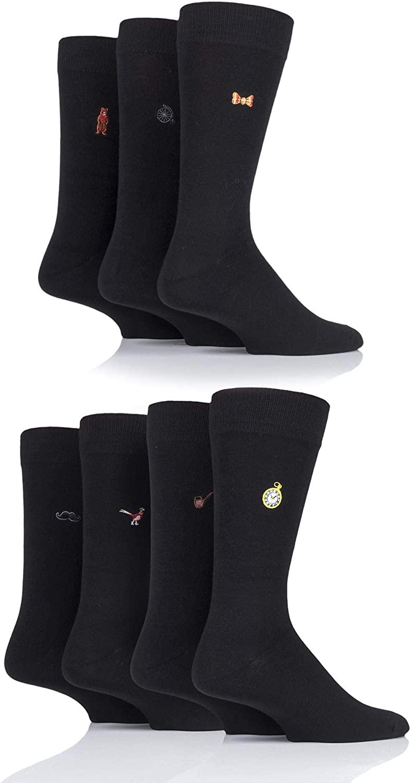 SOCKSHOP Wild Feet Mens Christmas 7 Days Gift Boxed Novelty Cotton Socks Pack of 7