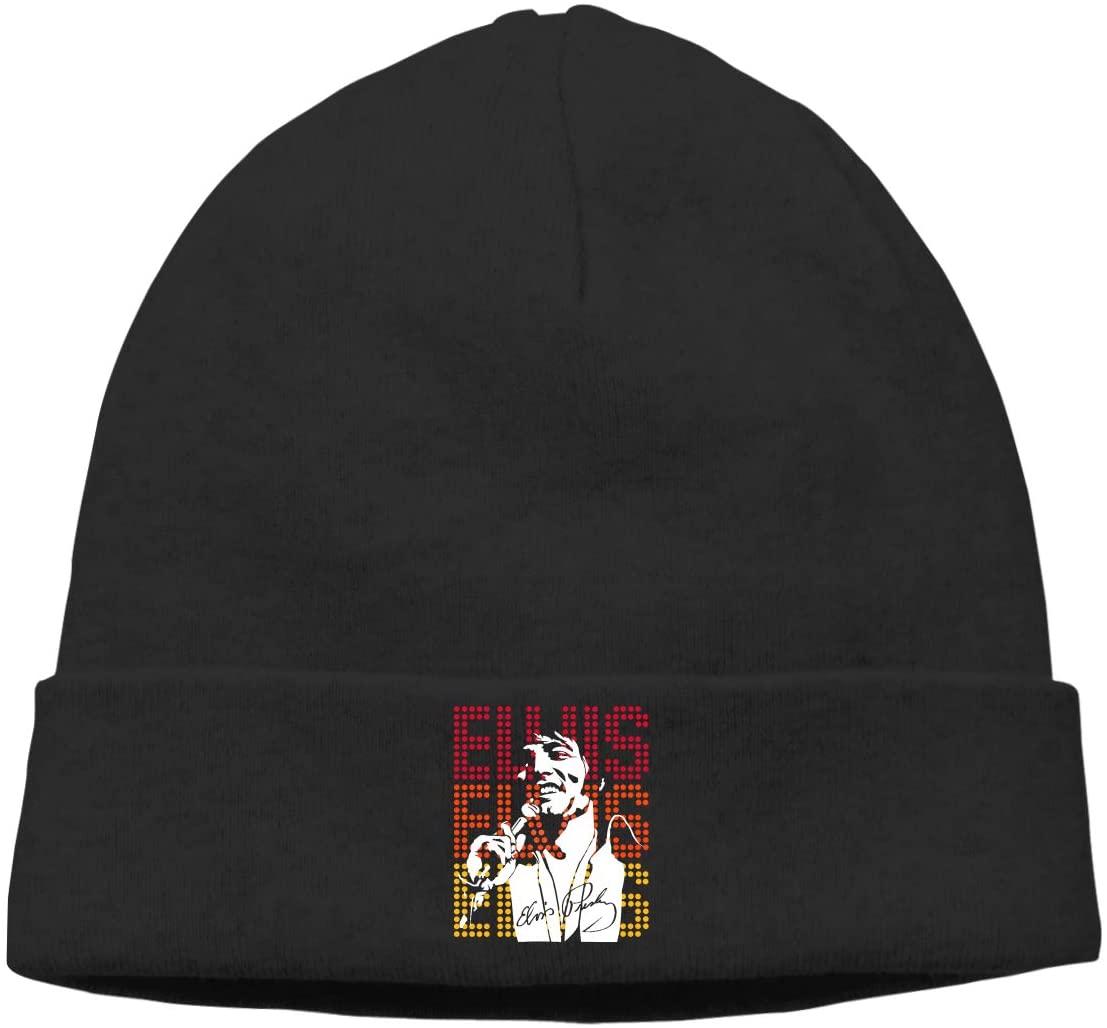 GabrielR Elvis Presley Beanie Cap Hat Ski Hat Cap Skull Cap for Men and Women Black