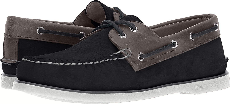 Sperry Top-Sider Gold Cup Authentic Original Nubuck Boat Shoe Men 9.5 Black/Grey