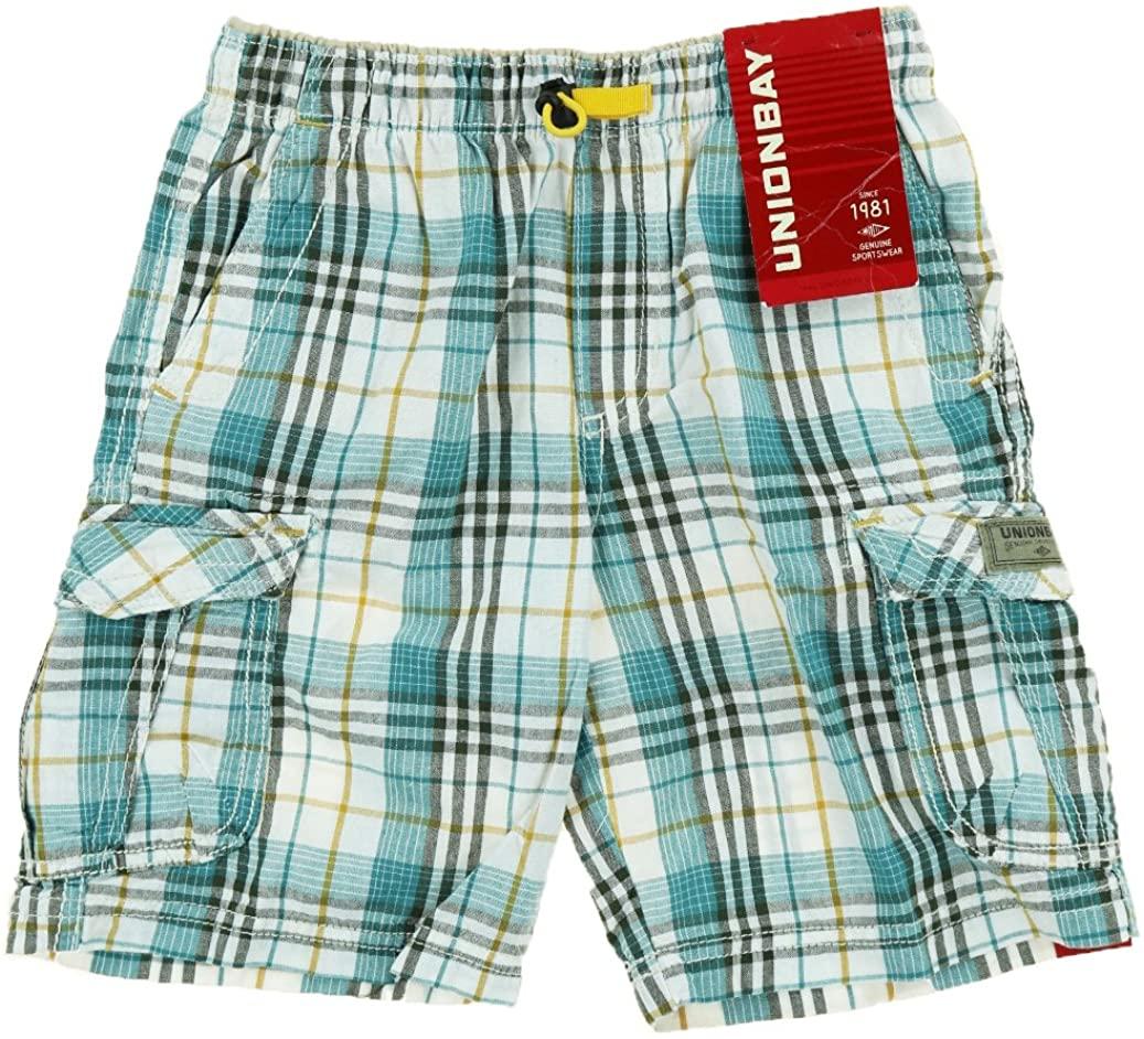 Unionbay Boys Lightweight Pull on Cargo Shorts (4, Archer Green)