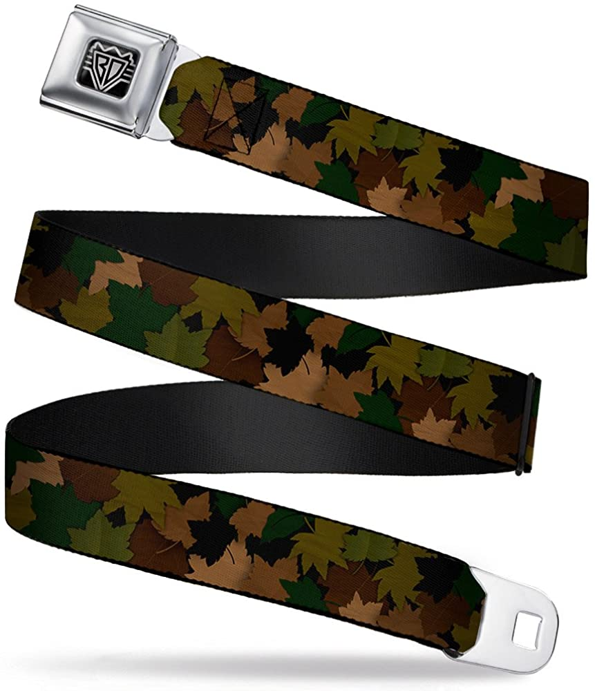 Buckle-Down Seatbelt Belt - Leaf Camo Browns/Greens/Black - 1.5