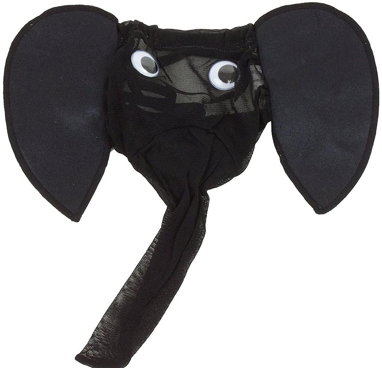 Minjie Sexy Men's Elephant Underwear Pouch Briefs Thongs Funny G-String T-Back