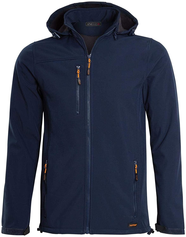 shelikes Hi Vis Viz Visibility Two Tone Zipped Zip Softsheel Plain Light Weight Fleece Zip Jacket Size