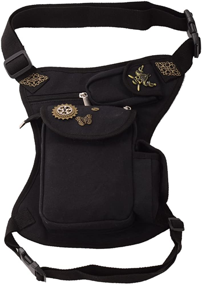 BLESSUME Steampunk Fannypack Cotton Waistbag Travel Practical Belt