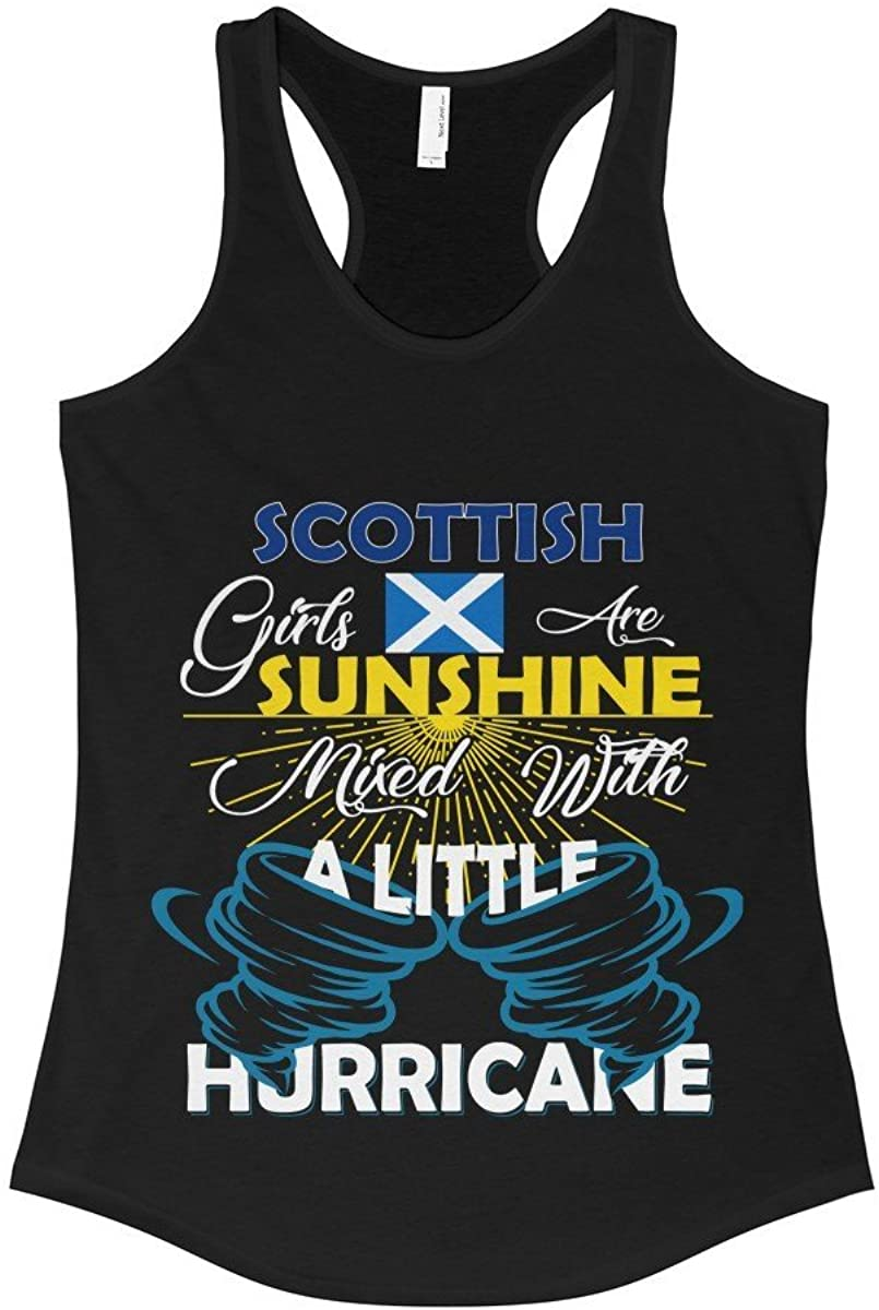 FavoryStore Scottish Girls Are Sunshine Mixed With a Little Hurricane Shirt - Tank Top